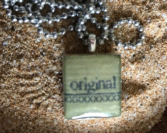 Scrabble Tile Necklace Original