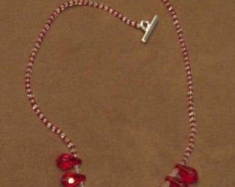 Valentine Red Tear drop necklace