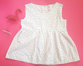 flamingos pinafore dress