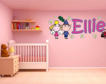 High Quality BEN U0026 HOLLY Personalised Wall Sticker Childrenu0027s Girlu0027s Bedroom Nursery  Decal Art Graphic Mural Colourful Part 8