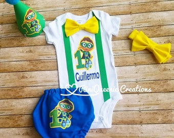 Super Why Super Heroes Outfit Set Cake Smash