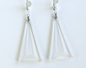Antique Triangle Glass Earrings
