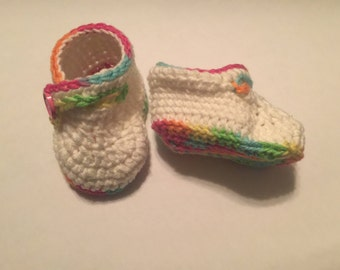Ready to ship crochet baby booties