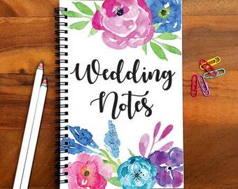 Writing Journal, Wedding Notebook, Bullet Journal, Planner, Spiral Notebook, Sketchbook