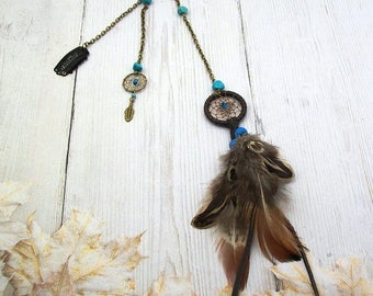 jewel of hair dream catcher turquoise bead