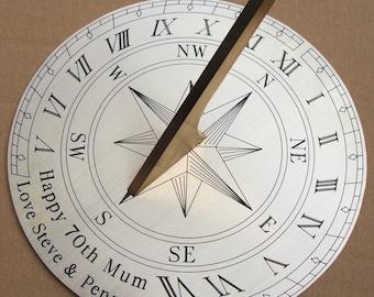 Personalised 20cm Garden Sundial   Wedding, Anniversary, Birthday, Retirement Gift.