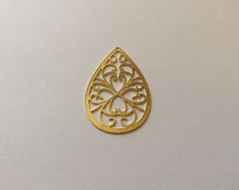 Print drop gold plated 18 k 40 * 25mm