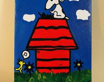 Kid's Snoopy Acrylic painting