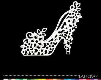 1 cut scrapbooking shoe slipper flower wedding wedding cut paper embellishment die cut creation