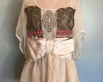 Vintage chiffon tunic