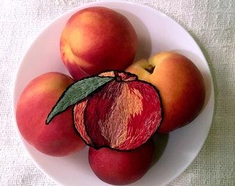 Big Peach Iron-on Patch