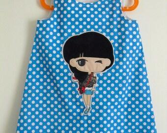 """Cute little dress """"Girl"""" T 5 years"""