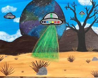 UFO Desert Visit