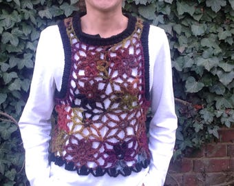 """Crocheted tank top hand collection """"Variation"""""""