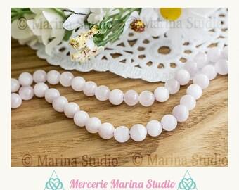 4 madagascar natural 6.5 mm kunzite beads
