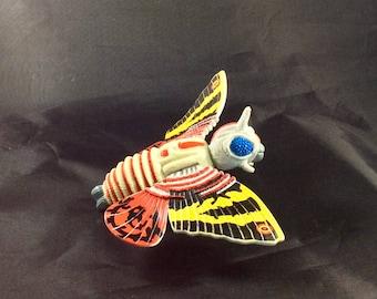 Godzilla Toy-Electronic Mothra Toy-Godzilla Action Figure-1994 Godzilla-Classic Godzilla-Mothra-Godzilla King of the Monsters-w/Trading Card
