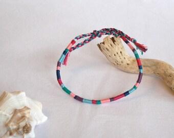 Blue Green Pink atebas ankle bracelet hippie anklet Brasilda