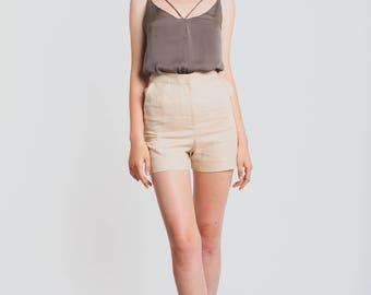 Sand Light Linen Shorts