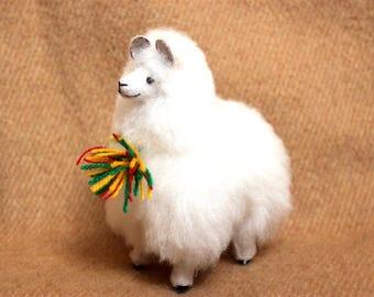 SALE 15% OFF* 100 Percent Alpaca Fur Alpaca Plush Very Soft and Cute Bolivian Peruvian Alpaca stuffed animal