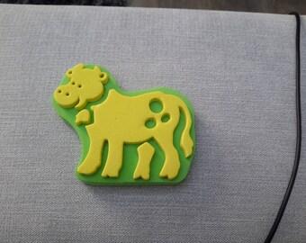 tampon peinture enfant représentant une vache