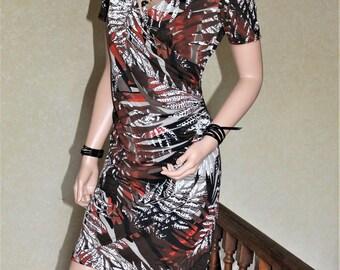 Safari Cardigan with gathered waist dress