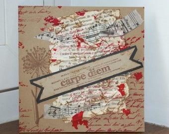 handmade card carpe diem