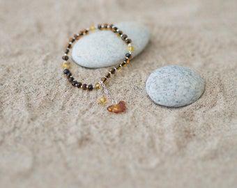 Baltic Amber Bracelet / Amber Bracelet for Adults / Amber Beads / Amber Bracelet for Woman / Amber Jewelry / Cognac Amber Bracelet / Amber