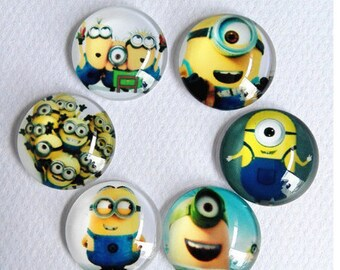 Set of 5 Cabochons the Minions