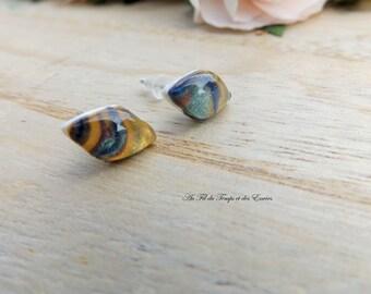 Earrings puce diamond Shiny