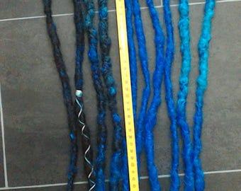 Blue/Brown dreads