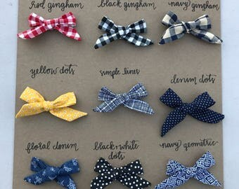 Little Lady Hand Tied Bow Classic Colors