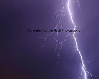 Lightning photo lightning photography storm photo storm photography weather photography printable wall art photography  digital downlaod