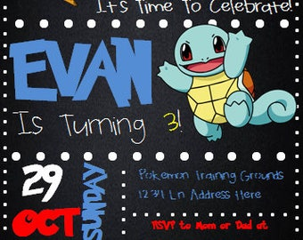 Pokemon Customized Birthday Invitation