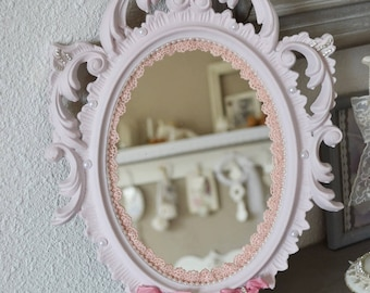 In shades of pink shabby mirror