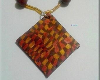 Necklace - Ethnic colors earrings diamond earrings