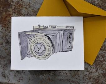 Baldalux Camera card - watercolor