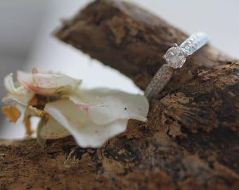 Diamond Engagement Ring Wedding Band 14k White Gold Diamond Ring 0.70 carat FREE SHIPPING