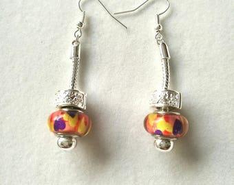 Earrings sleepers multicolored hearts version