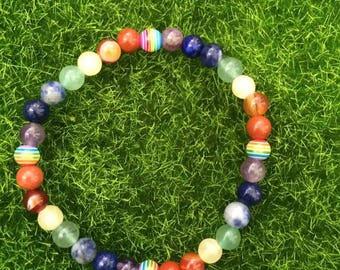 The 7 chakras mineral bracelet / gemstones