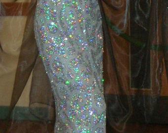 Silver Sequin Bellydance Costume
