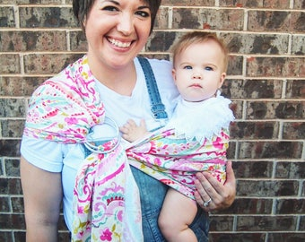 Small Watercolor Paisley Ring Sling