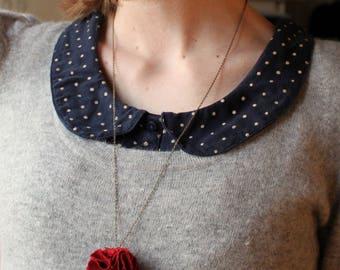 Red Garnet ball necklace