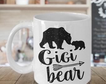 Gigi Bear Mug - 11 oz or 15 oz Ceramic Coffee Cup - Gift for Grandma, Great Grandmother