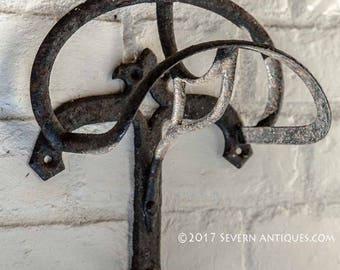 Vintage Cast Iron Saddle and Bridle Rack c. 1900