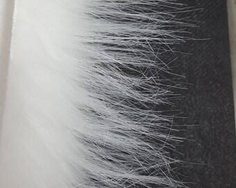 50cm of Snow white 6cm long pile Faux Fur High Quality
