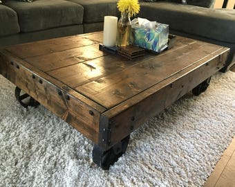 cart coffee table | etsy