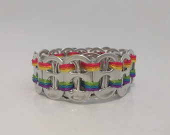Rainbow Pride Ring-pull Bracelet