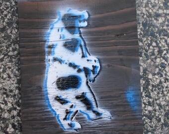 Folsom Bear on plywood