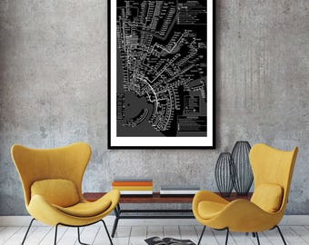 New York City Subway Map Wall Art Decor