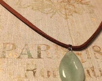 Green Teardrop Necklace